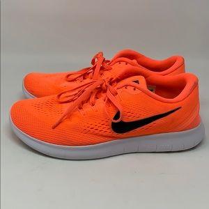 Nike free run neon pink sneaker 8.5